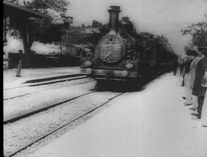 L'Arrivée d'un train en gare de La Ciotat