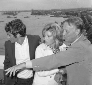 Terence Stamp, Monica Vitti and Joseph Losey (1965)