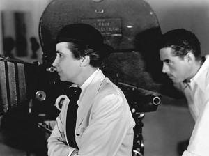 Dorothy Arzner and DP Lucien Ballard shooting Craig's Wife.
