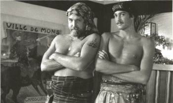 Les and Harrod on the set of Gap Toothed Women.