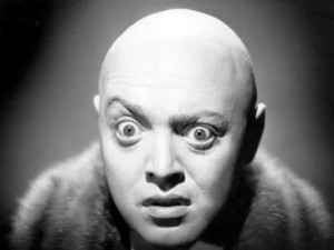 Peter Lorre as the doctor in the 1935 version.