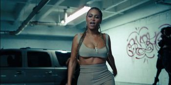 Figure 5: Physical gestures suture to heightened moments in the soundtrack. Beyoncé directly addresses the camera.