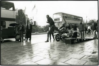 Tufano filming the opening sequence of Trainspotting