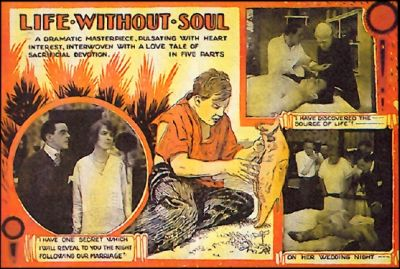 From the Lost Adaptation of Frankenstein, Life Without a Soul (1915)