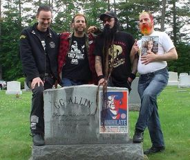 Merle Allin (second from right), with GG's fans