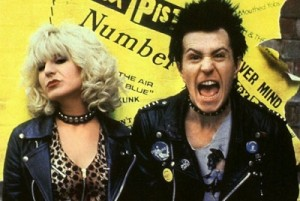 Chloe Webb and Gary Oldman in the film Sid and Nancy