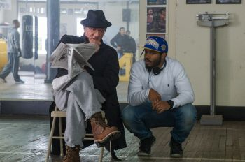 Ryan Coogler on the set of Creed