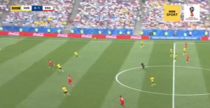 England vs Sweden match in the 2018 World Cup, aired on Saturday, July 7, 2018.