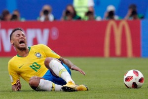 Cinematic or just acting?  Neymar in the 2018 World Cup.