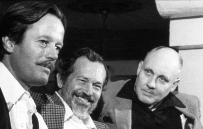 William K. Everson with Peter Fonda and Warren Oates
